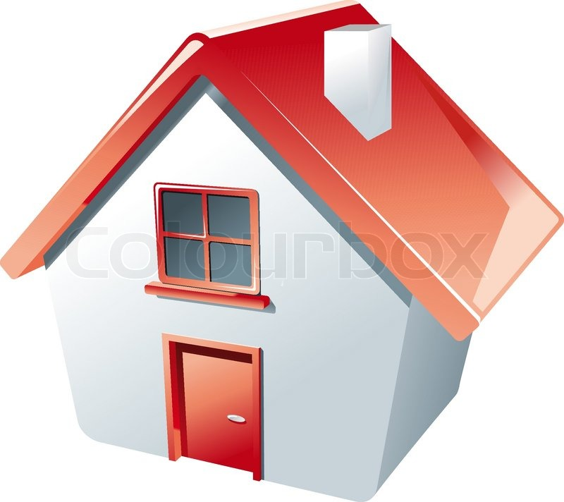 Hus ikon isoleret på hvidt som et ... | Stock vektor ...