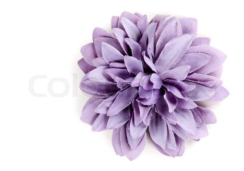 Purple Flower From Tissue Isolated On A White Background