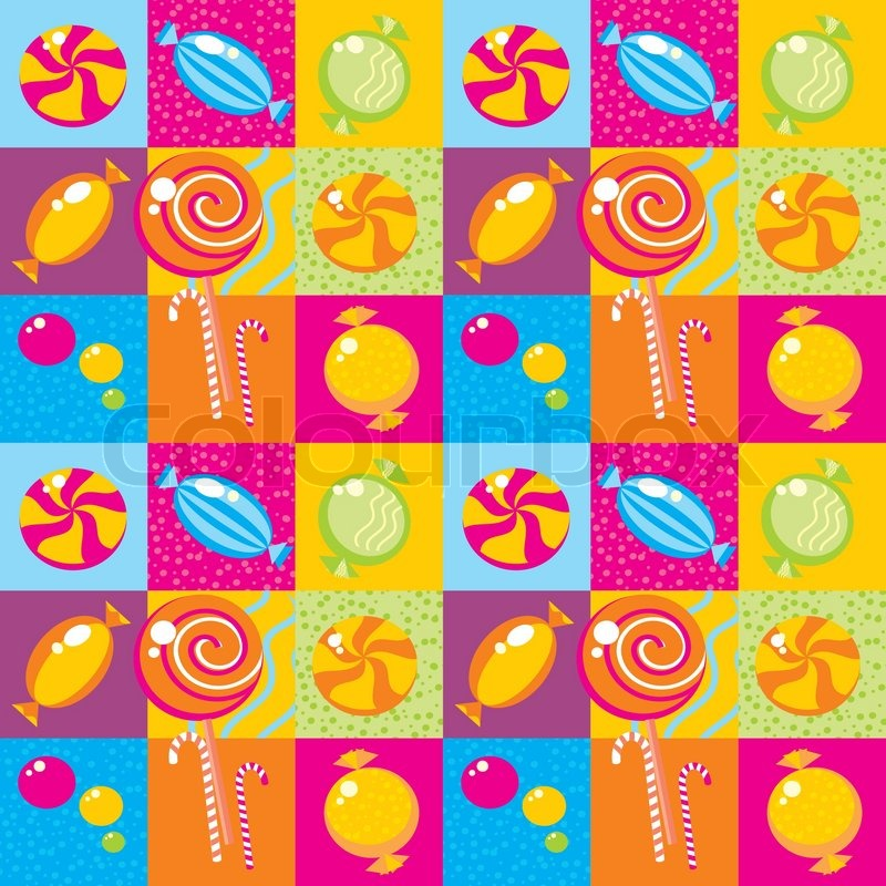 Colourful Candy Wallpaper With Multi Coloured Candy