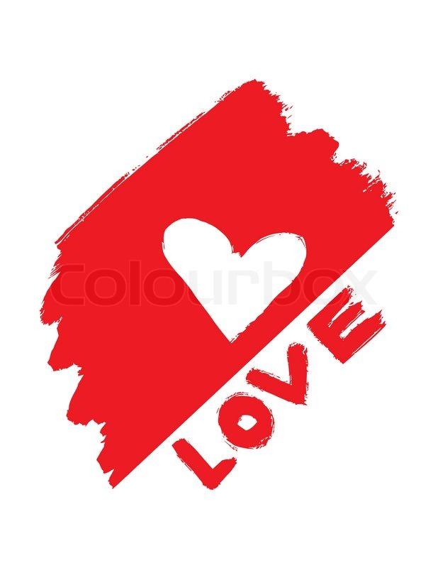 Abstract Love Symbol Stock Vector Colourbox