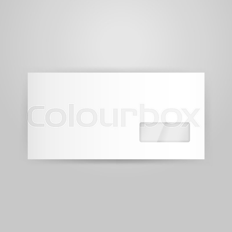 white closed envelope template vector illustration of blank design