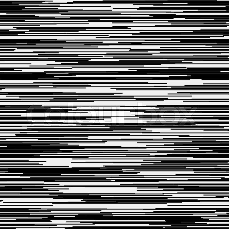 Abstract background with glitch effect distortion seamless texture random horizontal black and white lines for design concepts posters banners web
