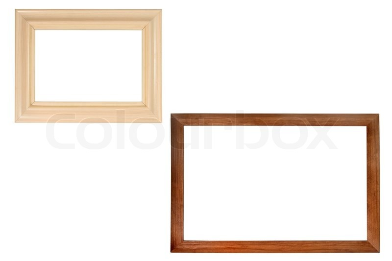 set of two wooden frames with empty space for text photo or picture stock photo colourbox - Wooden Picture Frames