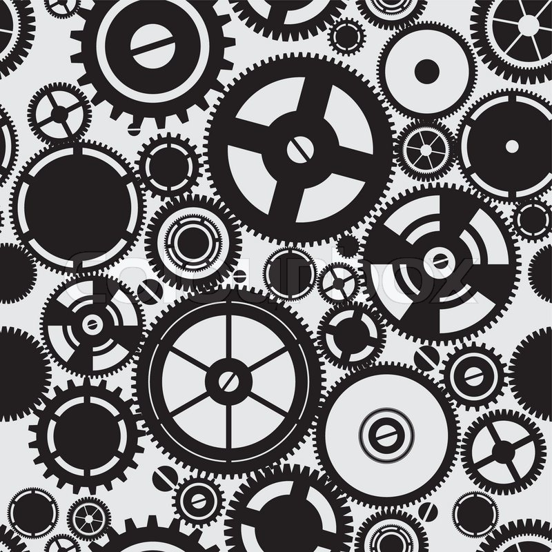 SEAMLESS pattern of gears | Stock vector | Colourbox