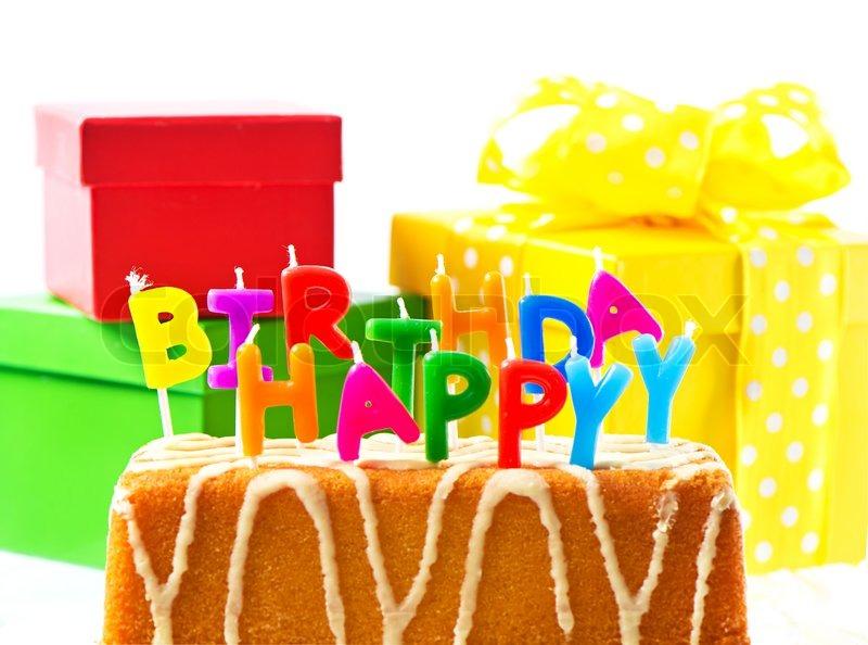 Happy birthday! colorful decoraion. card concept, stock photo