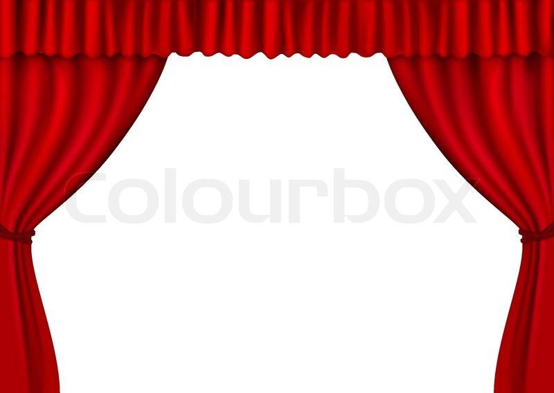 hintergrund mit rotem samt vorhang vektorgrafik colourbox. Black Bedroom Furniture Sets. Home Design Ideas