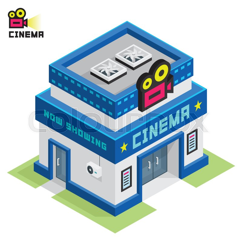 Illustration Of A Cinema Theater Stock Vector Colourbox