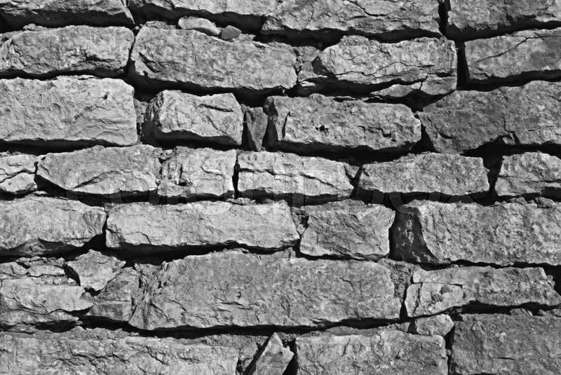 Gray Cartoon Brick Wall Texture : Texture of grey brick wall background stock photo