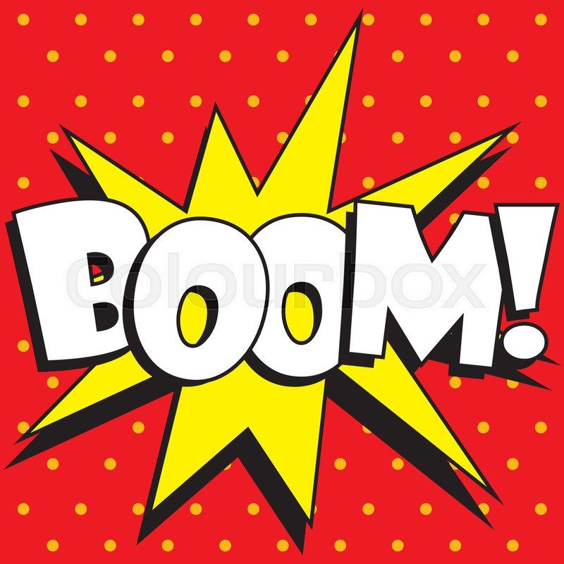 Cartoon Boom explosion, vector illustration. | Stock ...