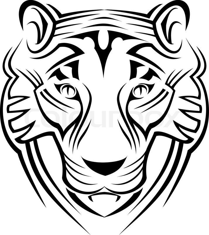 tiger auf wei223em als symbol der tierwelt zeichen isoliert