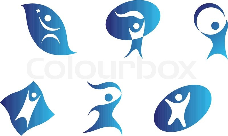 Isolated People Signs And Symbols For Design Stock Vector Colourbox