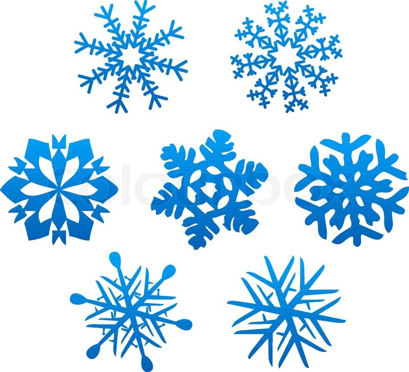 set of snowflakes for design isolated on white stock vector colourbox