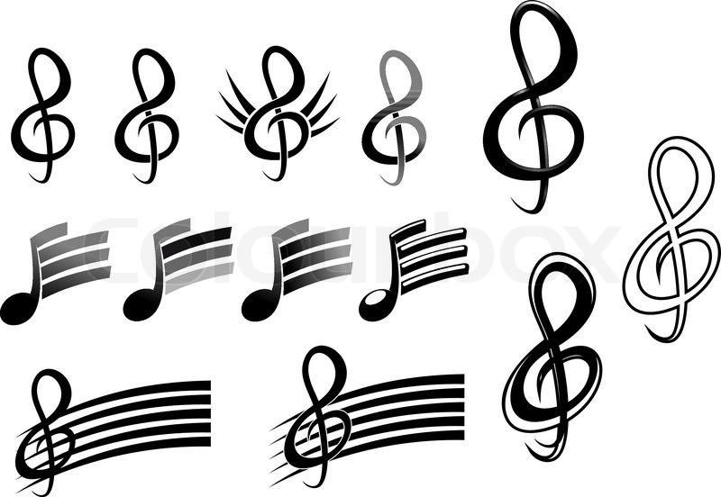 musik noter symboler