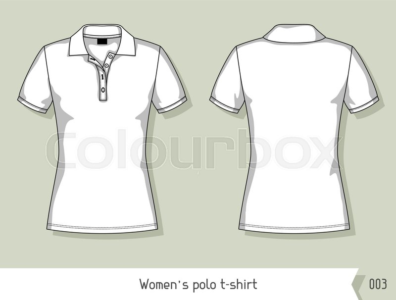 women polo t shirt template for design easily editable by layers stock vector colourbox. Black Bedroom Furniture Sets. Home Design Ideas