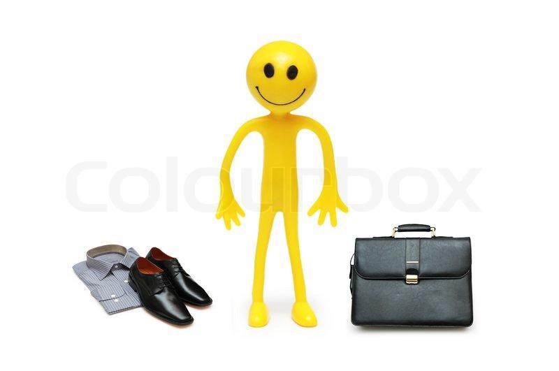 Geschaftsmann Unterwegs Mit Seinem Stockfoto Colourbox