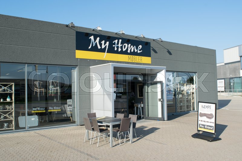 my home møbler Facade, indgangsparti og logo my home møbler | Stock Photo | Colourbox my home møbler