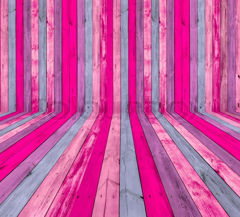 Quot A Creative Pink Wooden Room As A Stock Photo