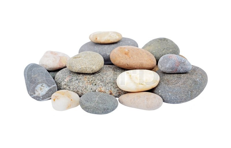 Pile of pebble stone, isolated on white background | Stock ...