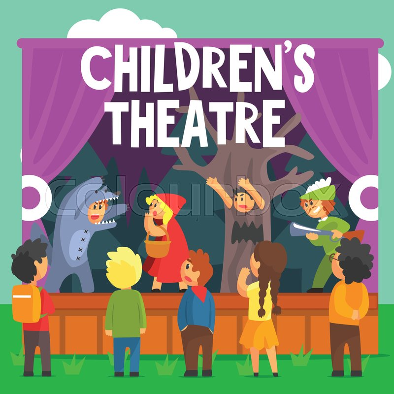 Actor Theater Stage Man Characters Medieval Different ...  |Acting On Stage Cartoon