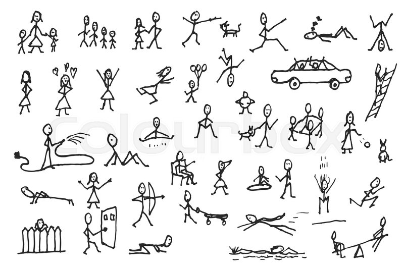 how to draw simple human figures