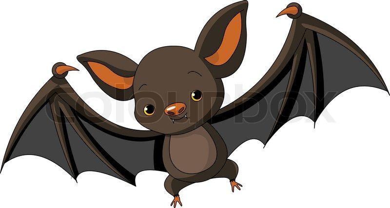 illustration of cute cartoon halloween   stock vector