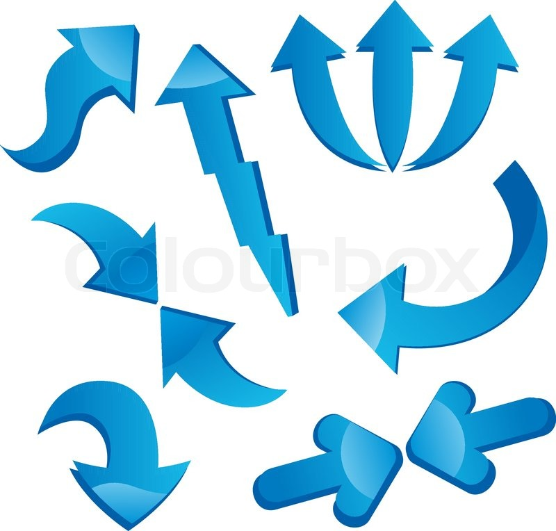 Arrow Icon Set Set of Arrow Icons Isolated on