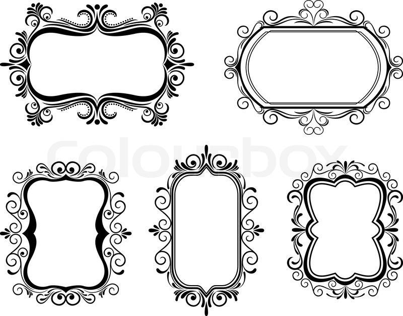 antique frame designs. Delighful Frame Antique Vintage Frames Isolated On White For Design On Frame Designs E