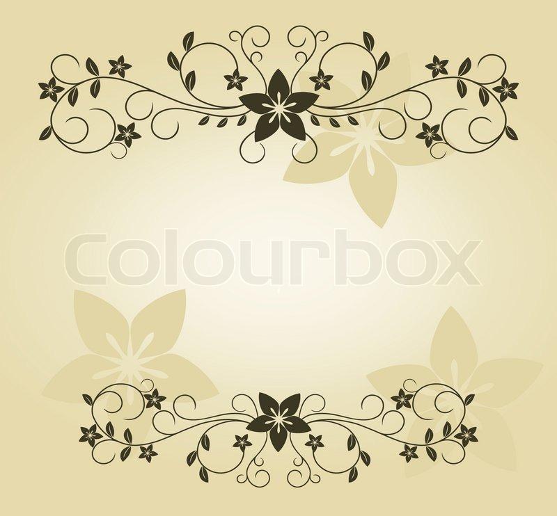 Vintage Frame im viktorianischen Stil für verzieren und Design ...