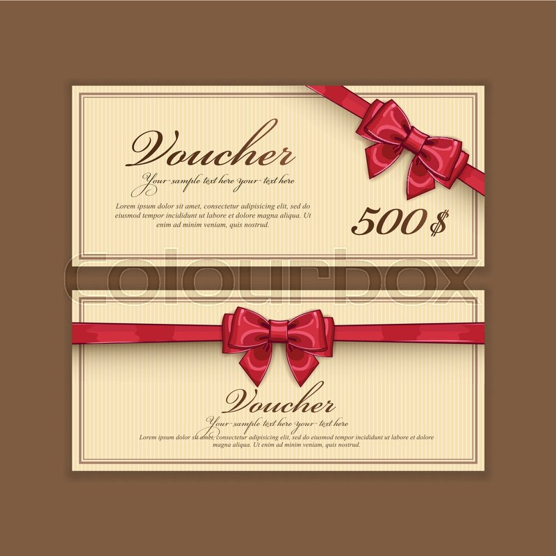 Gift discount voucher template vector layout special offer coupon gift discount voucher template vector layout special offer coupon business voucher layout with gift bow red color vintage style cheaphphosting Images
