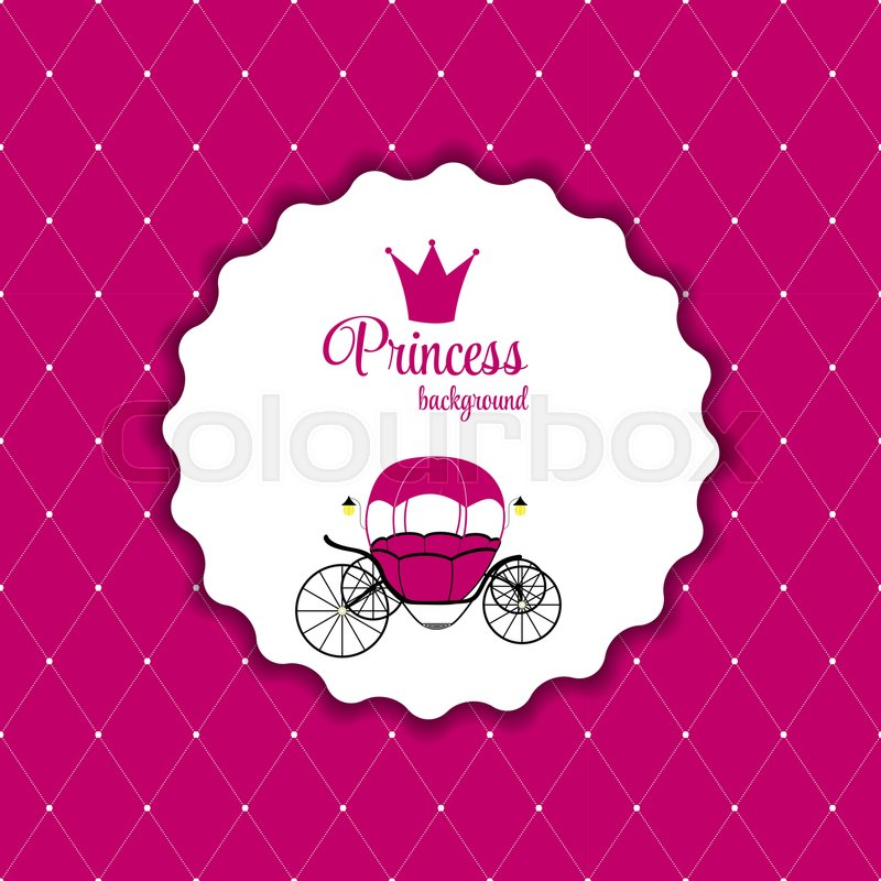 Pink Princess Crown Background Vector Stock Vector Colourbox