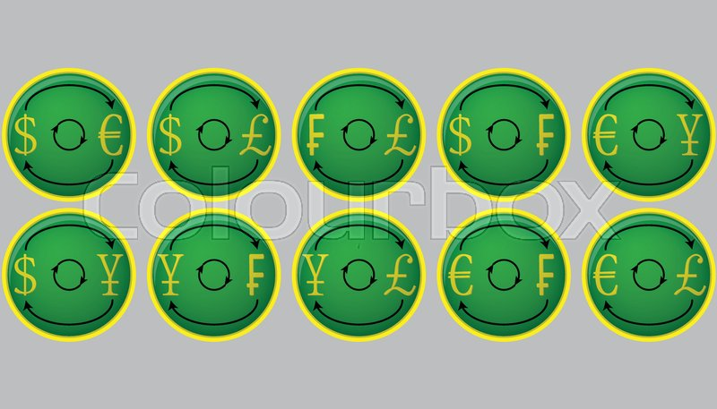 Currency Exchange Icon Buttons Currency And Money Exchange