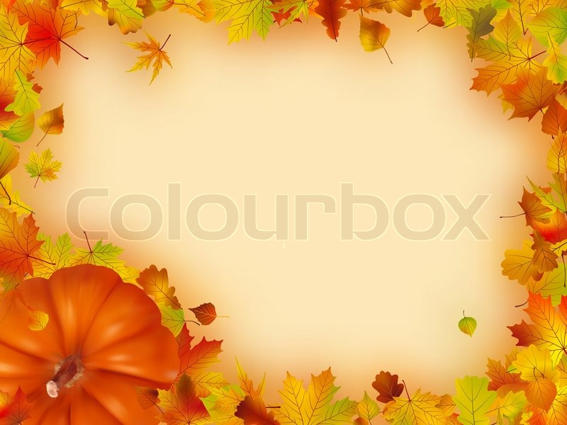 Thanksgiving holiday frame. EPS 8 vector file included | Stock ...