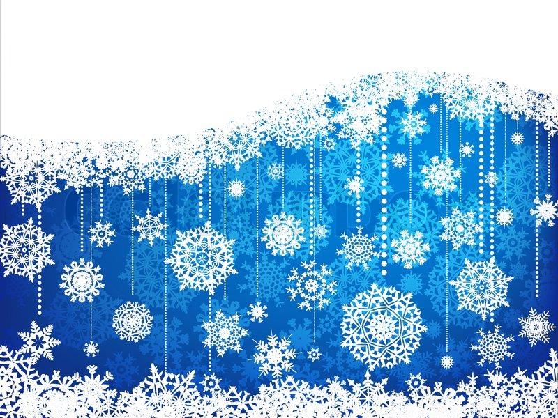 Elegant Christmas Background With Snowflakes Stock Vector: Elegant Christmas Background With ...