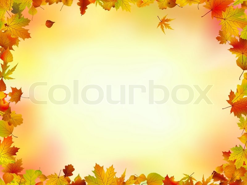 Fall leaves frame with copyspace background. EPS 8 | Stock Vector ...