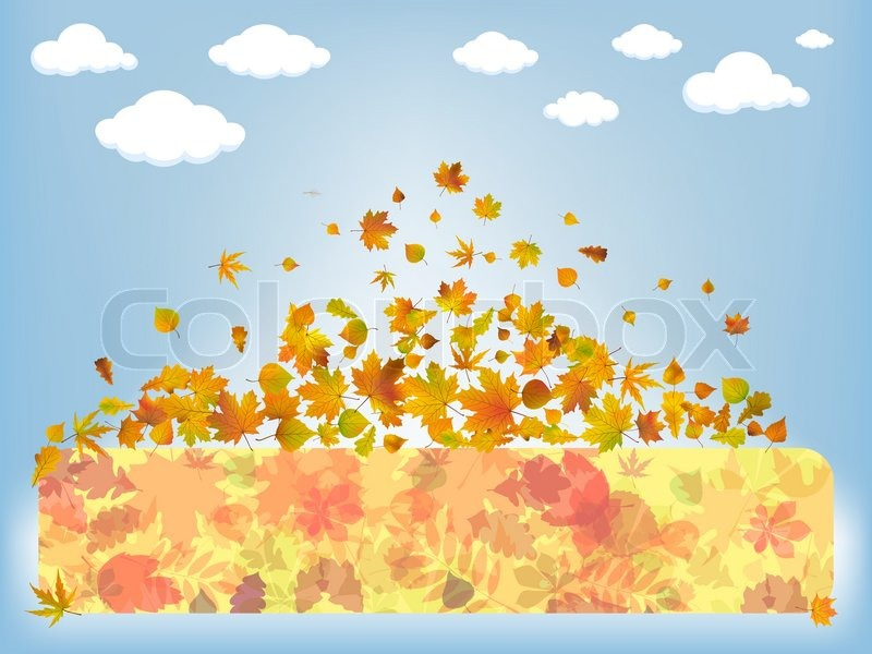 Stock vector of 'Below the clouds - Autumn abstract background. EPS 8'