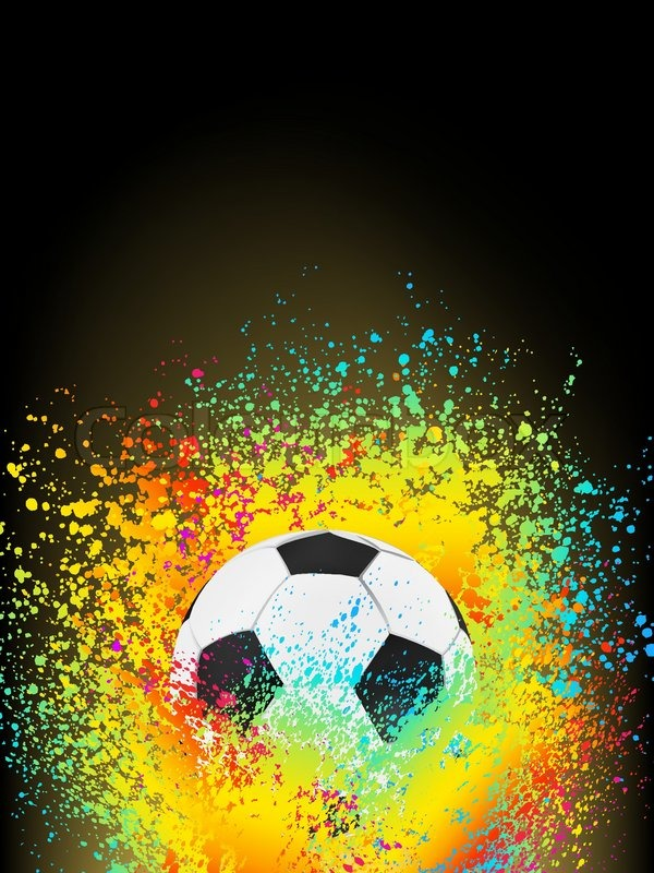 abstract background with a soccer ball eps 8 vector file included