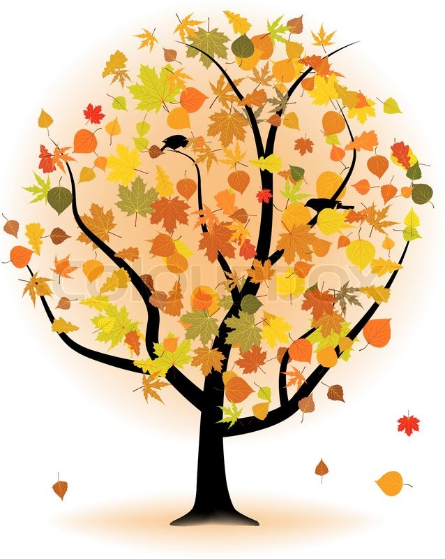 Stock vector of 'Maple tree, autumn leaf fall. EPS 8 vector file included'