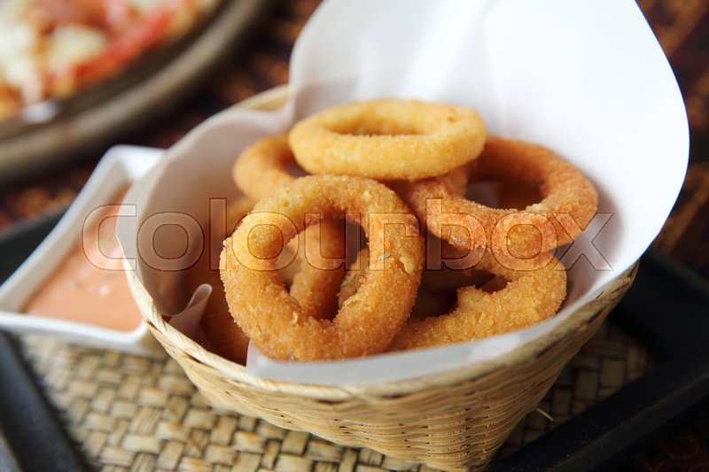 Stock foto af 'crumbed, vidalia, portion'