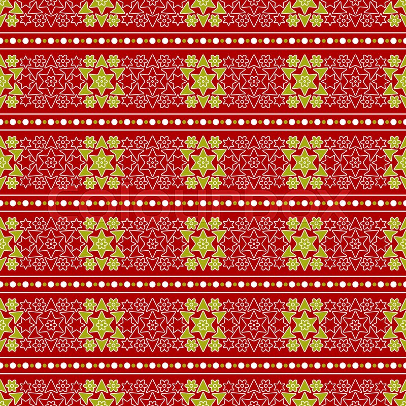 Christmas abstract wrapping paper seamless pattern gold white christmas abstract wrapping paper seamless pattern gold white stars and flowers on a red background stock vector colourbox mightylinksfo