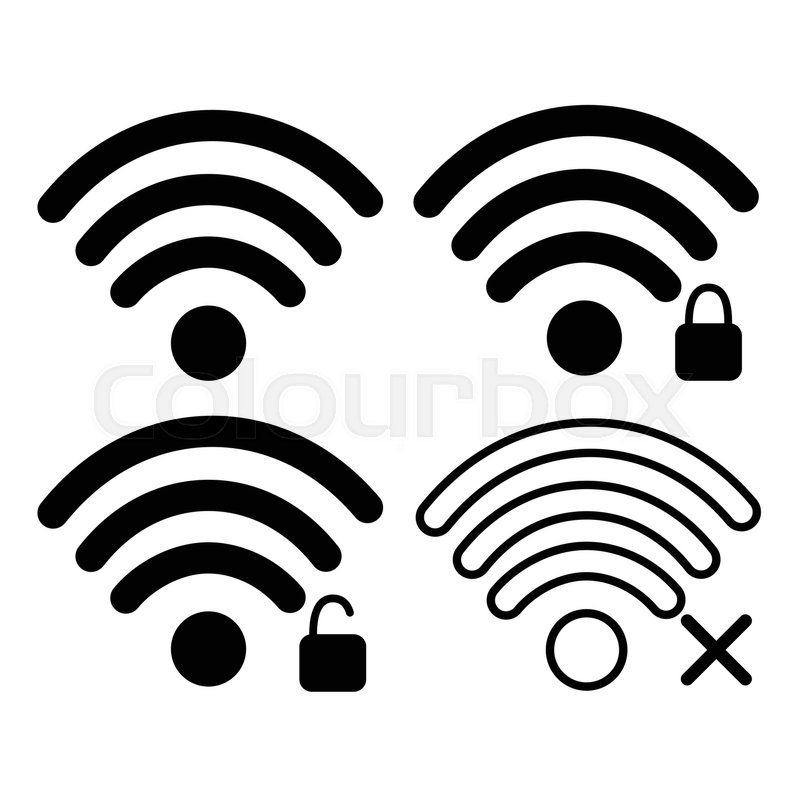 Wifi Signal Icon Free Locked Wireless