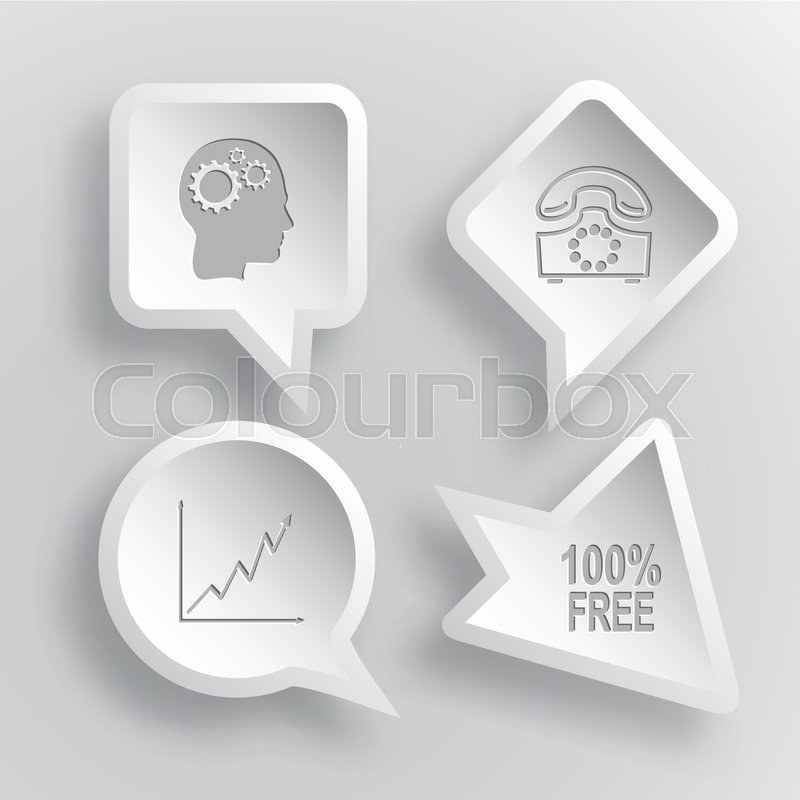 4 images human brain rotary phone diagram 100 free business 4 images human brain rotary phone diagram 100 free business set paper stickers vector illustration icons vector ccuart Image collections