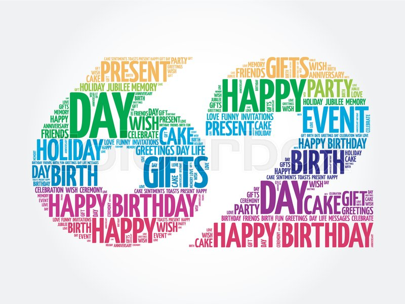 Happy 62nd birthday word cloud collage concept stock vector happy 62nd birthday word cloud collage concept stock vector colourbox m4hsunfo