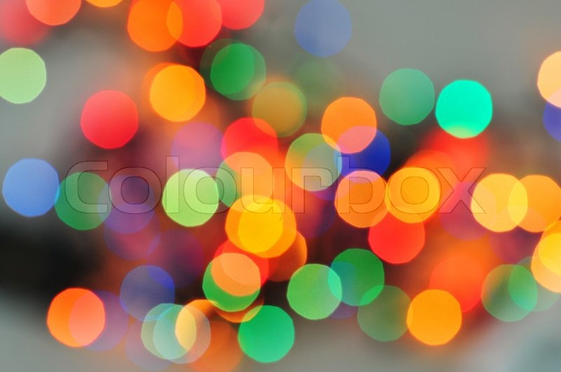 Blurred colourful lights at the background Stock Photo Colourbox