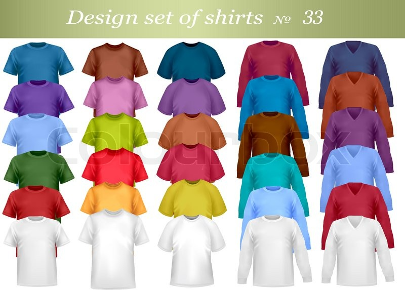 T Shirt Design Colors | Color And White T Shirt Design Stock Vector Colourbox