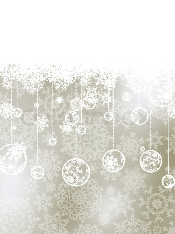 Elegant Christmas Background With Baubles EPS 8 Vector File Included