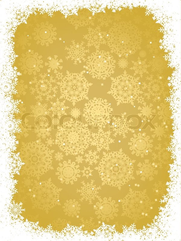 gold christmas snowflake wallpaper - photo #32