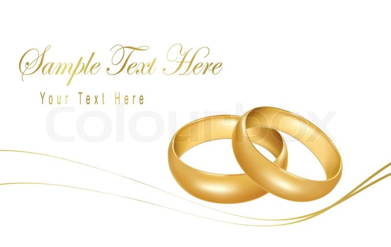 Photorealistic vector illustration Two gold wedding rings Stock