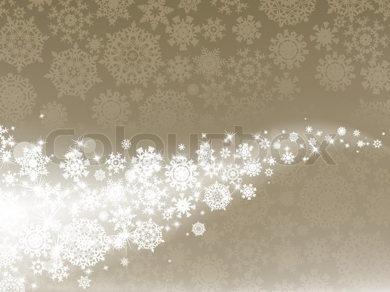 Elegant Christmas Background With Snowflakes Stock Vector: Light Elegant Abstract Christmas ...