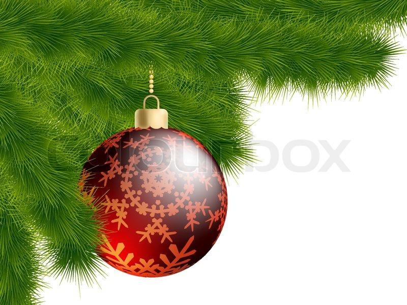 Weihnachtsbaum und dekoration kugel vektorgrafik for Dekoration weihnachtsbaum