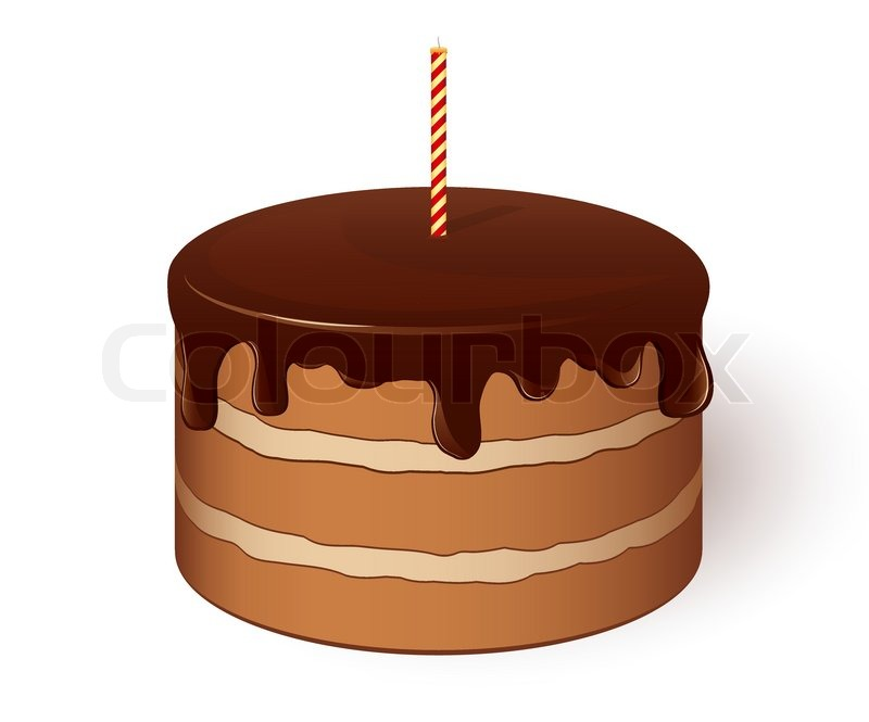 Cake Pictures Vector : Icon of Chocolate cake. Vector illustration. EPS8 Stock ...